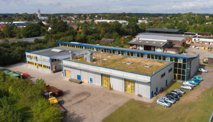 Luftbild des Standortes